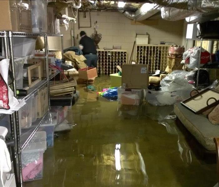 Water Damage Flooded Basement in Queen Anne's MD